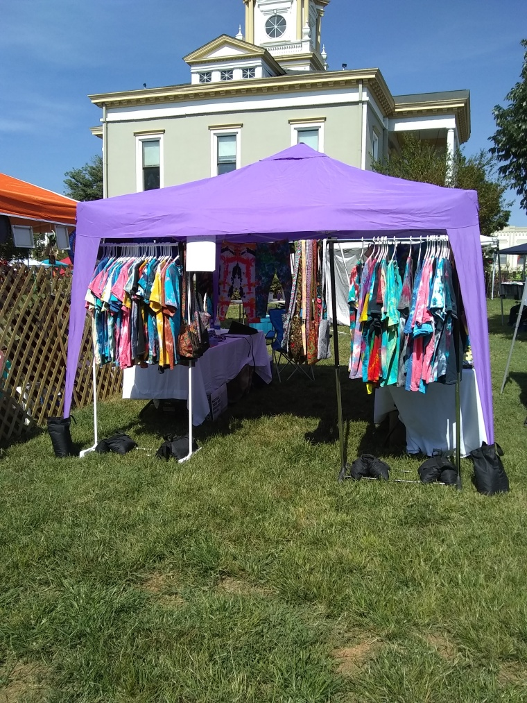 purple festival tent