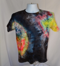 black and rainbow geode